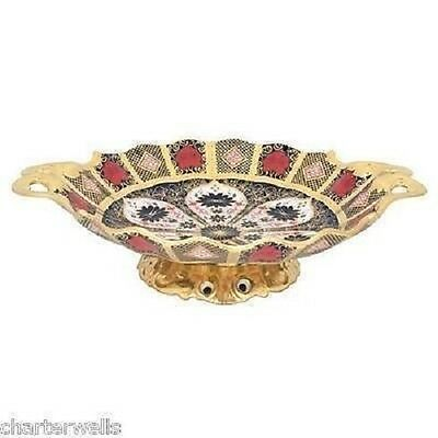 New Royal Crown Derby 1st Quality Old Imari Solid Gold Band Duchess Sweet Tray