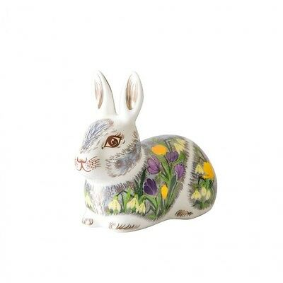 New Royal Crown Derby 1st Quality Springtime Crouching Bunny Rabbit Paperweight
