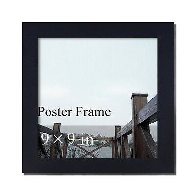 """Decorative Black Wood Wall Hanging Poster Photo Frame, 9 x 9"""" inch"""