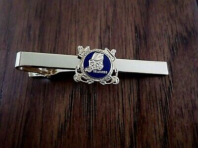 U.s Military U.s Navy Seabees Tie Bar Or Tie Tac Clip On Type U.s.a Made