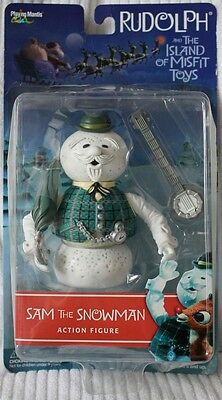 Rudolph Reindeer Memory Lane Sam the Snowman Action Figure NIB! 2001