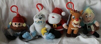 Rudolph & the Island of Misfit Toys Plush Mini Clip-on Figures Collection RARE!