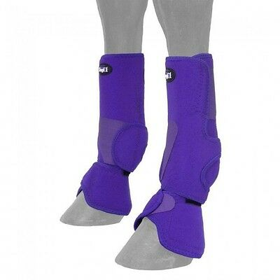 Performers 1st Choice Purple Size Medium Combo Boots Horse Tack 64-16300