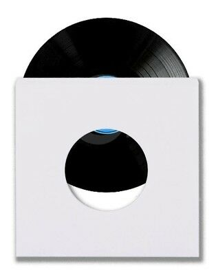 """1000 45 RPM 7"""" Record Inner Sleeves With Hole Heavy Weight 20# White Paper Acid"""