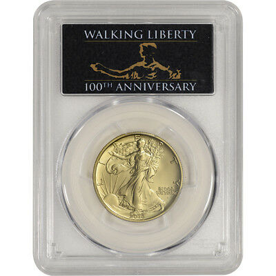 2016-W US Gold Walking Liberty Half (1/2 oz) 50C - PCGS SP70 FS 100th Black