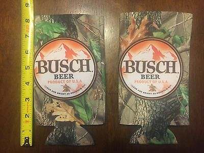2 - Busch Hunting Camo themed 25oz Can Coozies