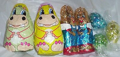 bulklot 12 sets Easter chocolate pack bunny 120 gram bulk sweets party favors