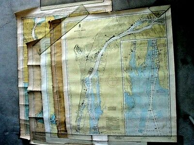 Old Nautical-Hydrographic Maps...set..detroit River..st.clair Lake & River......