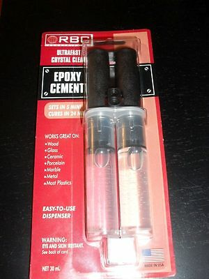 EPOXY Adhesive -ULTRAFAST 5 minute- Crystal Clear-NIP- Wood,Glass, Metal & More
