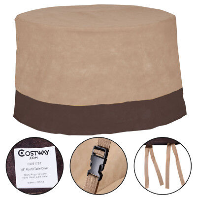 "48"" Large Waterproof Outdoor Patio Round Table Cover Furniture Protection"