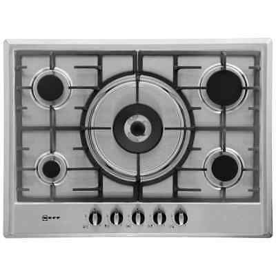 Neff T25S56N0GB Built In 70cm 5 Burners Gas Hob Stainless Steel New from AO