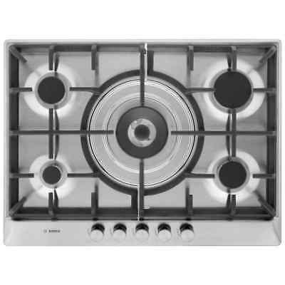 Bosch PCQ715B90E Serie 6 Built In 70cm 5 Burners Gas Hob Brushed Steel New from