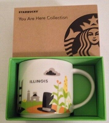 Starbucks You Are Here Collection Illinois Coffee Mug Brand New with Box