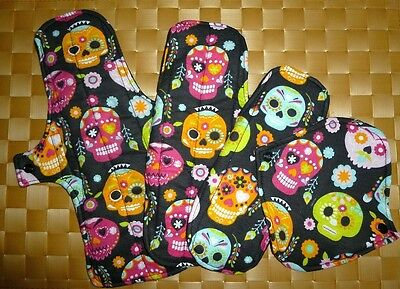 SKULLS Chickadee Reusable cloth menstrual pads - available in 4 sizes