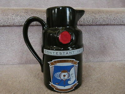 VINTAGE 1977 Tanqueray Gin Bob Hope Desert Classic Whiskey Pitcher Bar Man Cave