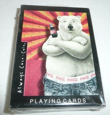 NEW SEALED - Coca Cola Coke Deck of Playing Cards - Holiday Polar Bear 1997