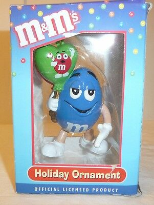 Blue M&M Holiday Xmas Figure Ornament - Kurt S. Adler - Balloon MM Christmas