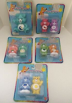 New ~ Care Bears Figurine  Figures LOT  8  Bears 2003 Series and A Night Light