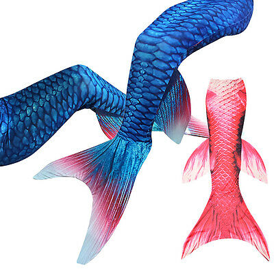 Fin Mermaid Tail Monofin - Swimmable Tail Kids Girls Women Swimming Costume New