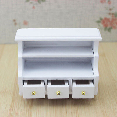 1/12 Doll House Miniature Wooden Furniture Living Room Bathroom Toilet  Cabinet