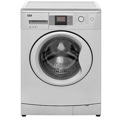 Beko WMB81243LS A+++ 8Kg 1200 Spin Washing Machine Silver New from AO