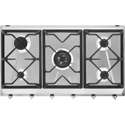 Smeg SRV596GH5 Cucina Built In 88cm 5 Burners Gas Hob Stainless Steel New from