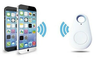 White Track & Find Key & Valuable Wireless Bluetooth w/ Voice Recording