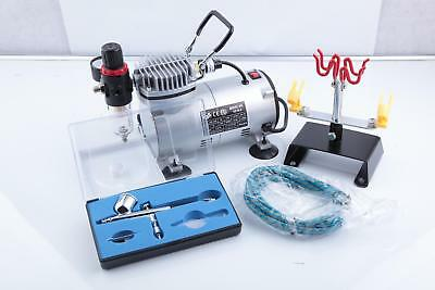 Complete Mini Airbrush Compressor As18-2 Starter Kit Including 1 Pistol Ab-130