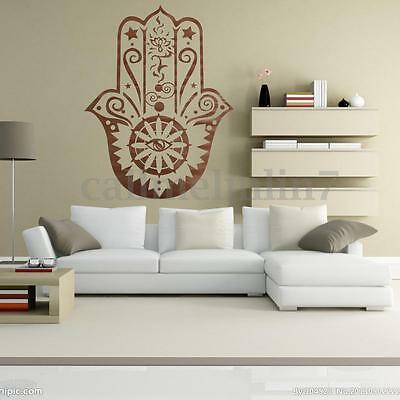 Wall Vinyl Decal Mandala Fatima Hand Eye Yoga Indian Buddha Wall Craft  Sticker