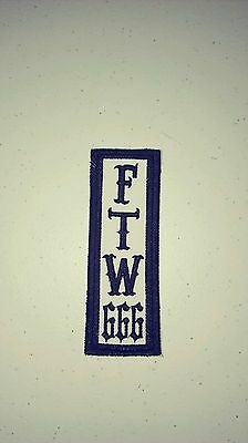FTW 666 Patch (Pick Your Colors). Free Shipping World Wide)Biker, HARLEY 666