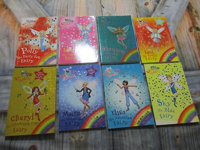 Bulk Lot of 8 Children's Fairy Books By Daisy Meadows RAINBOW MAGIC VG to Exclnt