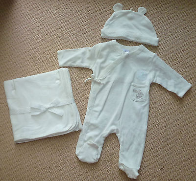 NWT Target Baby Boys Girls Coverall Hat Blanket 3 Piece Gift Set Size 0000 000