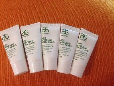 ARBONNE ABC BABY SUNSCREEN 5 Samples X 3 MLS