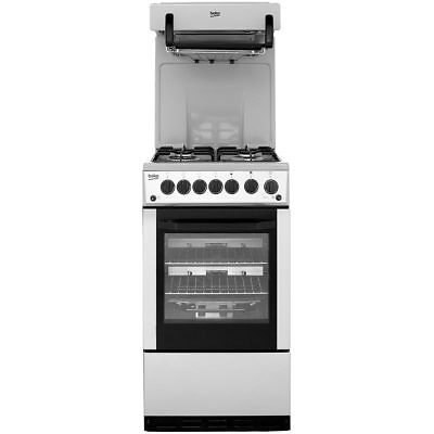 Beko BA52NES Aspen Free Standing Gas Cooker with Gas Hob 50cm Silver New