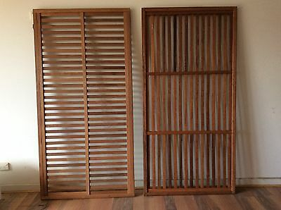 MERBAU PREFAB SCREEN SCREENING SOLID CONSTRUCTION 1800x900mm VERTICAL SLATS