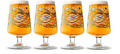 San Miguel 2017 Limited Edition Chalice Pint Glass (Set of 4)