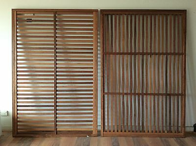 MERBAU PREFAB SCREEN SCREENING SOLID CONSTRUCTION 1800x1200mm HORIZONTAL SLATS