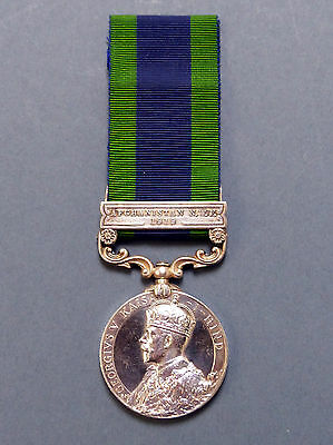 India General Service Medal with Afghan NWF 1919 Clasp - Liverpool Reg