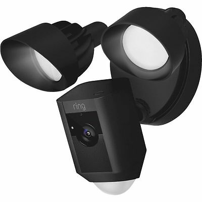 Ring Outdoor Wi-Fi Cam with Motion Activated Floodlight,Black Weather Resistant