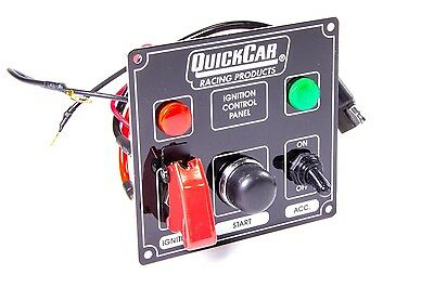QUICKCAR RACING PRODUCTS 4-5/8 x 4-3/8 in Dash Mount Switch Panel P/N 50-823