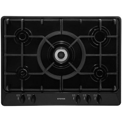 Stoves SGH700C Built In 68cm 5 Burners Gas Hob Black New from AO