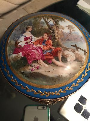 Gorgeous France Stamped 19c Sevres Ormolu Dore Bronze Artist A.Max Signed