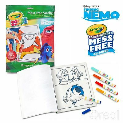 New Crayola Color Wonder Finding Dory Mess-Free Magic Coloring Nemo Official