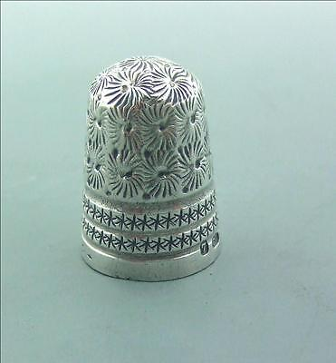ANTIQUE SOLID SILVER THIMBLE CHARLES HORNER No 7 CHESTER 1902