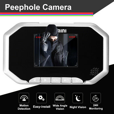 3'' Motion Detection Door Peephole Camera 160° Camera Video Viewer Night Vision