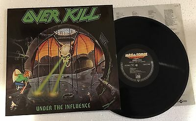 "Rare Lp 12"" Trash Metal Overkill Under The Influence 1988 Germany Ex+/nm Inner"