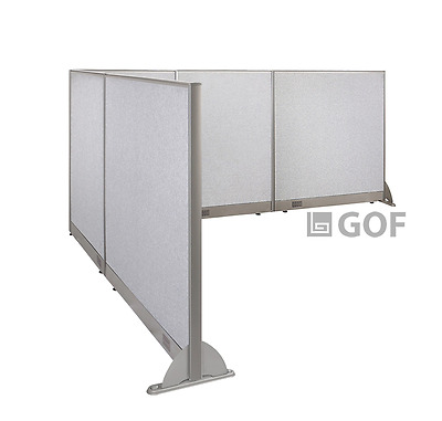 GOF L-Shaped Freestanding Partition 96D x 120W x 48H / Office, Room Divider