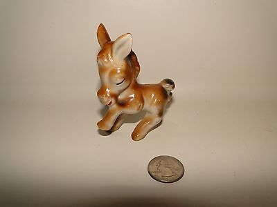 "Donkey Burro Ceramic Japan Miniature Figurine Vintage, 3 1/4"" Tall, Japan"
