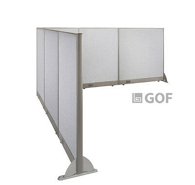 GOF L-Shaped Freestanding Partition 102D x 120W x 48H / Office, Room Divider