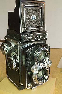 Vintage Yashica-D Copal MXV 80MM Immaculate Condition w/ Case, Flash, Light Mtr